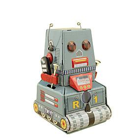 preiswerte Roboter-Roboter Aufziehbare Spielsachen Retro Panzer Maschine Roboter Schmiedeeisen Eisen Retro Unisex Spielzeuge Geschenk