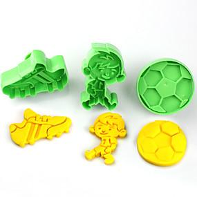 preiswerte Gifts for Soccer Fans-Kunststoff Kinder Heimwerken Kuchen Plätzchen-Werkzeuge Backwerkzeuge