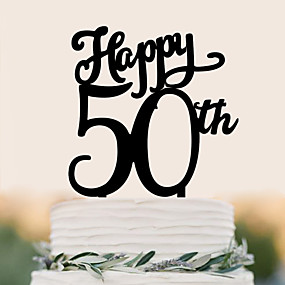 povoljno Darovi i pokloni za zabave-Figure za torte Rođendan Vjenčanje Visoka kvaliteta plastika Vjenčanje Rođendan s 1 PVC vrećica