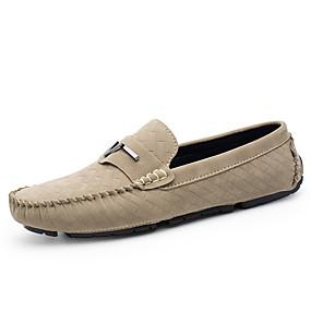 levne Dámské mokasíny-Unisex Suede Shoes Semiš Léto / Podzim Nokasíny Černá / Šedá / Khaki / Party / Party / Kancelář a kariéra / Mokasíny / Komfortní lapače