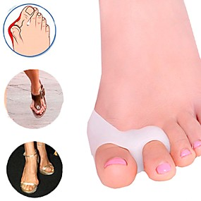 cheap Travel Health-1Pair Nice for Big Toe Separator Hallux Valgus Bunion Corrector Orthotics Pedicure Feet Bone Thumb Adjuster Correction