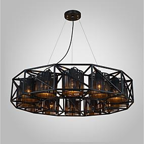 povoljno Stropna svjetla i ventilatori-Privjesak Svjetla Downlight Crn Metal Fabric Mini Style, dizajneri 220-240V / 100-120V