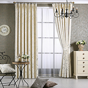 preiswerte Fensterdekoration-zeitgenössische Verdunkelungsvorhänge Vorhänge zwei Platten Wohnzimmer Jacquard