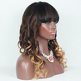 ราคาถูก Ombre Lace Wigs-ผม Remy ลูกไม้หน้าไม่มีกาว มีลูกไม้ด้านหน้า วิก สไตล์ ผมบราซิล ลอนใหญ่ วิก 130% Hair Density ผมเด็ก ผม Ombre เส้นผมธรรมชาติ วิกผมแอฟริกันอเมริกัน 100% บริสุทธิ์ สำหรับผู้หญิง 24 นิ้ว 26 นิ้ว 10 นิ้ว