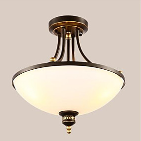 cheap Ceiling Lights & Fans-3-Light 45 cm Eye Protection Flush Mount Lights Metal Glass Inverted Painted Finishes 110-120V / 220-240V / E26 / E27