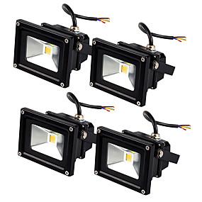 billige Flomlys-Jiawen 4pcs led floodlight 10w utendørs spotlight flood light vanntett ip65 profesjonell belysning lampe ac85-265v