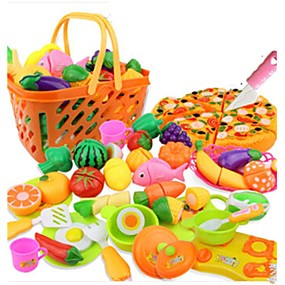 cheap Kids' Toys-Toy Kitchen Set Toy Food / Play Food Pretend Play Vegetables Fruit Fruits & Vegetables Simulation Plastics Kid's Girls' Toy Gift