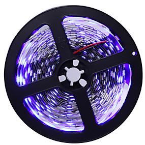 hesapli LED Şerit Işıklar-HKV 5m Esnek LED Şerit Işıklar 300 LED'ler 5050 SMD 10mm 1pc Sıcak Beyaz Beyaz Mavi Kesilebilir Kendinden Yapışkanlı Tiktok LED Şerit Işıklar 12 V