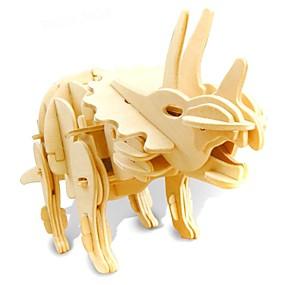 preiswerte Modelle & Modell Kits-3D - Puzzle Modellbausätze Tyrannosaurus Dinosaurier mit Geräusch Sensor Elektrisch Hölzern Kinder Jungen Spielzeuge Geschenk