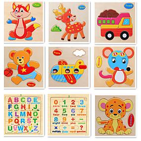 preiswerte 3D-Puzzles-Lernkarten Schreibtisch-Spielzeug Bausteine Frucht Tiere Hölzern 9 pcs Zeichentrick Erwachsene Mädchen Spielzeuge Geschenk