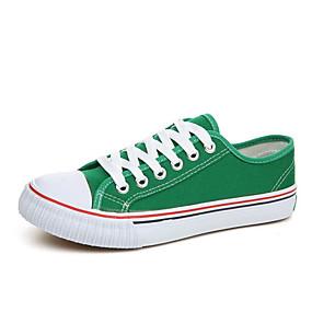 voordelige Damessneakers-Dames Sneakers Platte hak Ronde Teen Drapering Canvas Lichtzolen Lente / Herfst Geel / Rood / Groen