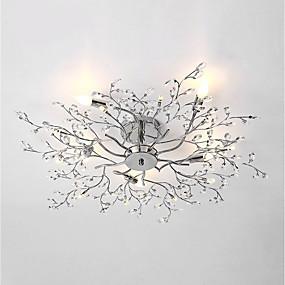 cheap Ceiling Lights & Fans-5-Light 78 cm Bulb Included Flush Mount Lights Metal Chrome Chic & Modern 110-120V / 220-240V