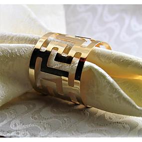 preiswerte Servietten-Ring-Metal Servietten Ring Mit Mustern Umweltfreundlich Tischdekorationen 12 pcs