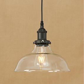 povoljno Viseća rasvjeta-zdjela Privjesak Svjetla Ambient Light Electroplated Metal Glass Bulb Included, Zaštita očiju, dizajneri 200-240V / 110-120V Bulb Included / E26 / E27