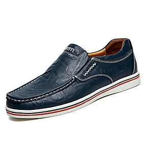 voordelige Wijdere maten schoenen-Heren Comfort Loafers Leer Zomer / Herfst Loafers & Slip-Ons Zwart / Bruin / Donkerblauw / Combinatie / EU40