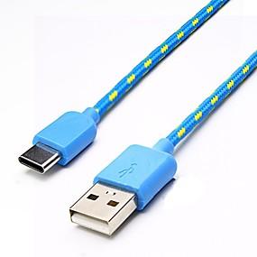 preiswerte Handys & Elektronik-UC-002 USB 3.1 nach USB 3.1 Typ C Male - Male 2.0m (6.5FT) Geflecht