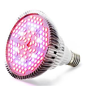 preiswerte LED Pflanzenlampe-1pc 24 W Wachsende Glühbirne 4000-5000 lm E26 / E27 120 LED-Perlen SMD 5730 Warmes Weiß Rot Blau 85-265 V / 1 Stück / RoHs / FCC