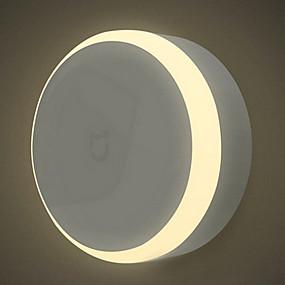 preiswerte Xiaomi®-Xiaomi 1 Stück LED-Nachtlicht Batterie Infrarot-Sensor / Abblendbar / Menschlicher Körper Sensor LED
