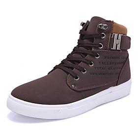 preiswerte Herrenschuhe-Herrn Komfort Schuhe PU Frühling / Herbst Sneakers Walking Schwarz / Grün / Schwarz / weiss / Draussen / Leichte Sohlen / EU40