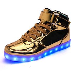 voordelige Damessneakers-Dames Sneakers LED schoenen Lage hak Haak & Lus / LED Kunstleer Comfortabel / Oplichtende schoenen Wandelen Herfst / Winter Zwart / Zilver / Rood / EU42