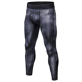 cheap Running, Jogging & Walking-YUERLIAN Men's Running Tights Compression Pants Gym Leggings 3D Sports Compression Clothing Tights Running Fitness Jogging Bike / Cycling Gym Workout Trail Lightweight Breathable Quick Dry Geometric