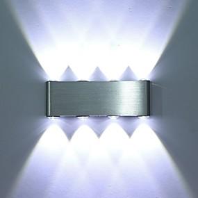 voordelige Binnenverlichting-modern 8w led wandkandelaar verlichtingsarmatuur binnen gang wandlamp aluminium decoratieve verlichting geleid geïntegreerd