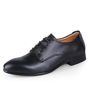 levne Větší obuv-Pánské Společenské boty Kůže Jaro / Podzim Business Svatební obuv Bílá / Černá / Modrá / Šněrování / EU40