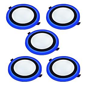 cheap LED Recessed Lights-6 W 2835 LED Beads Decorative LED Panel Lights Natural White Blue 85-265 V / 5 pcs