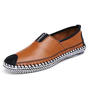 voordelige Wijdere maten schoenen-Heren Comfort Loafers Leer Zomer / Herfst Loafers & Slip-Ons Wandelen Zwart / Bruin / Donkerblauw / Combinatie / EU42