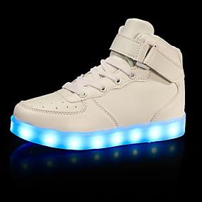 ieftine Pantofi de Copii-Băieți LED / Pantofi Usori / Zuia Copiilor Imitație de Piele Adidași Copii mici (4-7 ani) / Copii mari (7 ani +) Plimbare Cârlig & Buclă / LED / Luminos Alb / Negru / Rosu Toamnă / Iarnă / Cauciuc