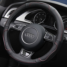 cheap Automotive Interior Accessories-Steering Wheel Covers Leather 38cm Red / Beige / Gray For universal General Motors All years