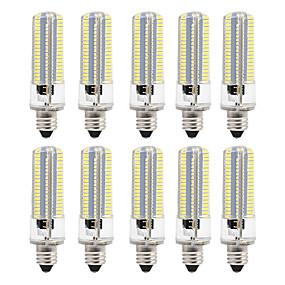 cheap LED Corn Lights-10pcs 8 W LED Corn Lights 700 lm E12 E12 / E14 E17 152 LED Beads SMD 3014 Dimmable Warm White White 220 V 110 V
