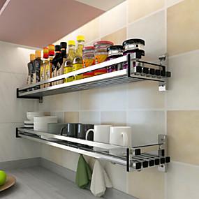 preiswerte Wandsticker-1pc Kochgeschirrhalter Aluminium Legierung Leichte Bedienung Küchenorganisation