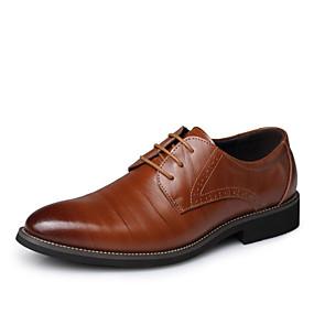 levne Větší obuv-Pánské Společenské boty Kůže Jaro / Podzim Oxfordské Žlutá / Hnědá / Modrá / Party