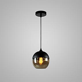 povoljno Viseća rasvjeta-Glob Privjesak Svjetla Ambient Light Slikano završi Glass Glass Bulb Included, Prilagodljiv, dizajneri 110-120V / 220-240V / E26 / E27