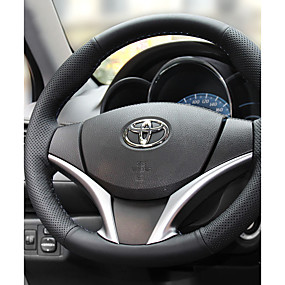 cheap Automotive Interior Accessories-Steering Wheel Covers Leather 38cm 15inch Diameter Black / Black / Red For Toyota Ford Nissan Volvo Hyundai Cadillac Mazda Mitsubishi  All years