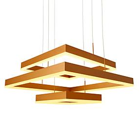povoljno Lámpatestek-umei geometrijska linearna privjesna ambijentalna žarulja od anodiziranog metala, podesiva, podesiva 110-120v / 220-240v topla bijela / bijela