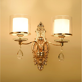 povoljno Lámpatestek-ecolight ™ kristalna zidna svjetla 2pcs e14 40w / tradicionalna / klasična zidna svjetla& zidne svjetiljke 220-240v