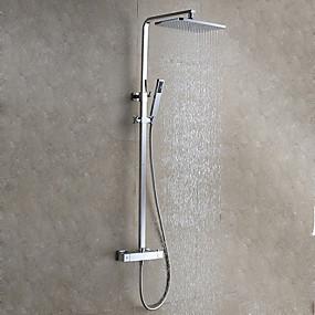 preiswerte Duscharmaturen-Duschhahn - modern / modern Chrom-Wandventil aus Keramik / Messing-Badarmaturen für Duschen
