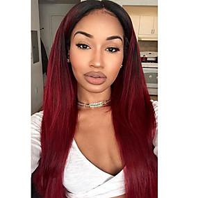 ราคาถูก Lace Wigs with Baby Hair-วิกผมจริง มีลูกไม้ด้านหน้า วิก ตัดผมหลายชั้น Kardashian สไตล์ ผมบราซิล Straight วิก 130% Hair Density ผมเด็ก เส้นผมธรรมชาติ สำหรับผู้หญิงผิวดำ 100% บริสุทธิ์ ไม่ได้เปลี่ยนแปลง สำหรับผู้หญิง Short