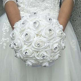 preiswerte Hochzeitsblumen-Hochzeitsblumen Sträuße Hochzeit Polyester / Schaum 25 cm ca.