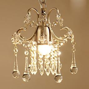 povoljno Lámpatestek-Kristal Privjesak Svjetla Downlight Slikano završi Metal Crystal, Bulb Included 110-120V / 220-240V Meleg fehér Bulb Included / E26 / E27