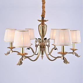 povoljno Lámpatestek-6-Light Lusteri Ambient Light Lakirana bronca Metal Fabric Mini Style 110-120V / 220-240V / E12 / E14
