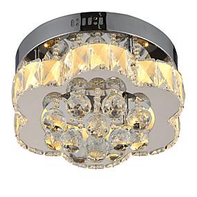 povoljno Lámpatestek-LightMyself™ Flush Mount Ambient Light Chrome Crystal Crystal, Zatamnjen daljinskim upravljačem 85-265V Zatamnjen daljinskim upravljačem Bulb Included