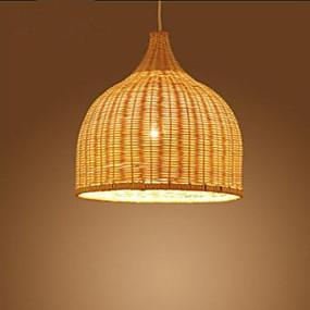 povoljno Viseća rasvjeta-Privjesak Svjetla Ambient Light Chrome Metal Wood / Bamboo dizajneri 110-120V / 220-240V Bulb not included / E26 / E27