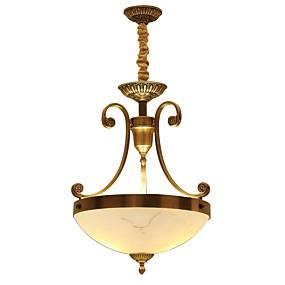 povoljno Stropna svjetla i ventilatori-3-Light Flush Svjetla Ambient Light Brass Metal Glass Mini Style, Bulb Included 220-240V / 100-120V / E26 / E27