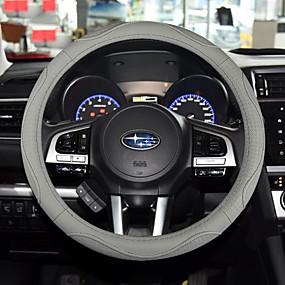 povoljno Dodaci za unutrašnjost auta-Prekrivači za upravljač Koža 38cm Crn / Black / Red / Braon Za Univerzális