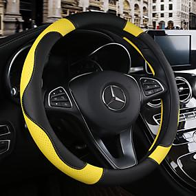 billige Spesialtilbud-Rattovertrekk til bilen 38 cm Burgunder / Oransje / Gul Til Chevrolet Aveo / Cruze / Epica