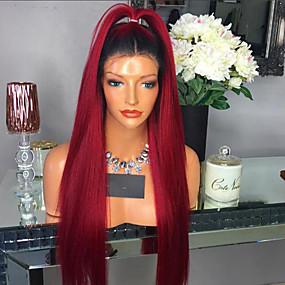 ราคาถูก Lace Wigs with Baby Hair-วิกผมจริง เต็มไปด้วยลูกไม้ วิก ตัดผมหลายชั้น Kardashian สไตล์ ผมบราซิล Straight วิก 130% Hair Density ผมเด็ก เส้นผมธรรมชาติ สำหรับผู้หญิงผิวดำ 100% บริสุทธิ์ ไม่ได้เปลี่ยนแปลง สำหรับผู้หญิง Short