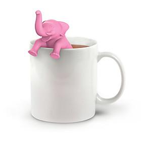 preiswerte Küche & Utensilien-elefant tee infuser silikon teesieb lose blatt kraut gewürzfilter